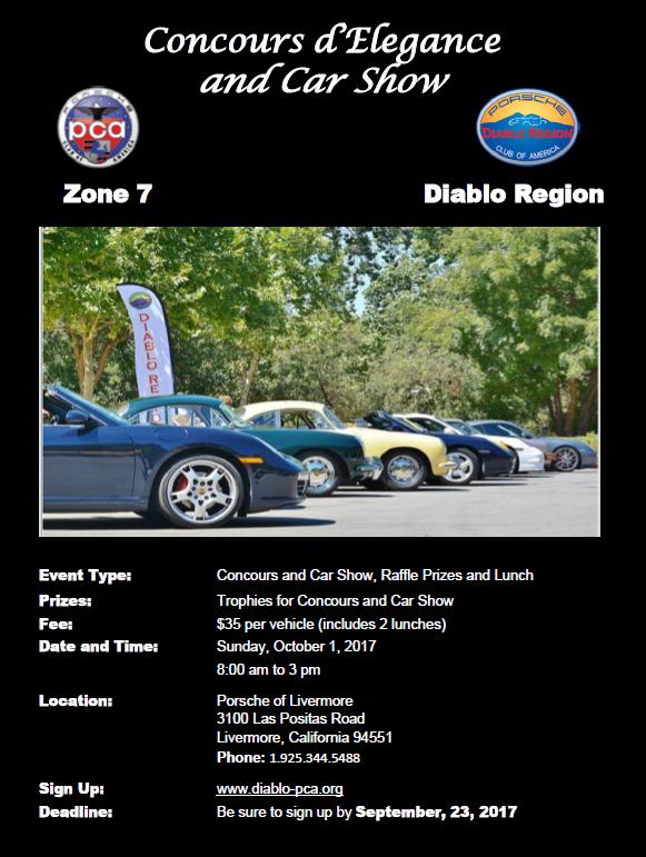 Diablo Region Porsche Club Of America Diablo Region Porsche Club - Livermore car show